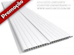 PEÇA DE FORRO PVC 3,00MT X 0.20CM X 00,8MM (60,CM²) BRANCO