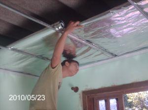 Manta Termica colocada / Contratando a colocação do forro PVC , APARTI